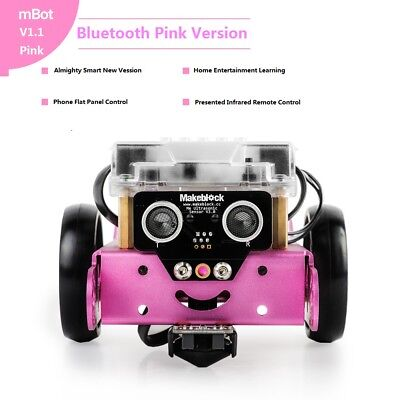 Makeblock new mBot V1.1 Educational Programmable Robot (Bluetooth Version Pink)