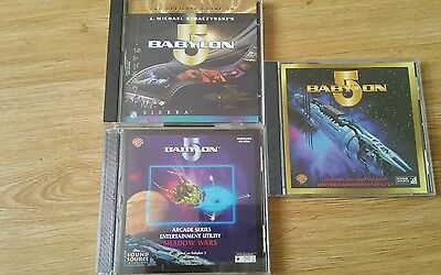 3 x babylon 5 utility cd very rare