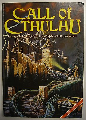 CALL Of CTHULHU (1986) 3rd Edition RPG Rulebook, H.P. Lovecraft Games Workshop