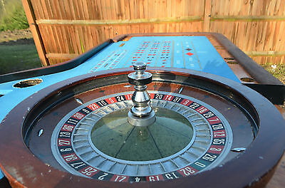 Roulette Table with full size wheel