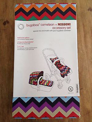 BRAND NEW Bugaboo Cameleon MISSONI 3in1 fabric set (Canopy, Apron and Blanket)