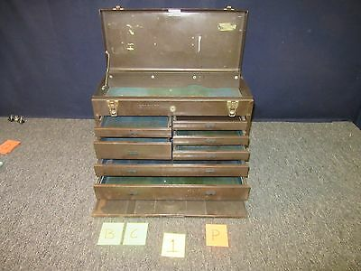 Stack On Tool Box Metal Military Drawer Chest Kit Tray Artillery Brown Used