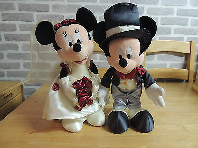 Disneyland resort Paris Minnie and Mickey  mouse Bride and Groom soft toy