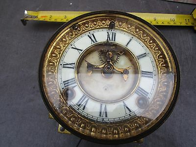 Vintage/antique Movement Removed From A Smashed Slate Clock