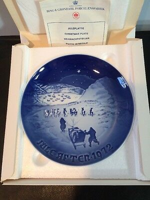 NIB Vintage Bing And Grondahl 1972 Christmas In Greenland Collectors Plate