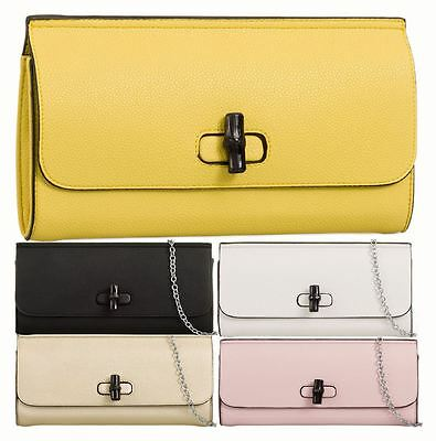 Ladies Evening Clutch - Faux Leather With Turn Clasp