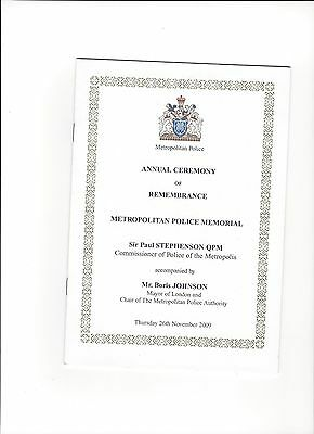 2009 Metropolitan Police Annual Ceremony of Remembrance