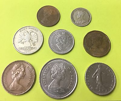 8 Foreign Coins Lot W/1 Silver-No Duplicates! (Lot 2)