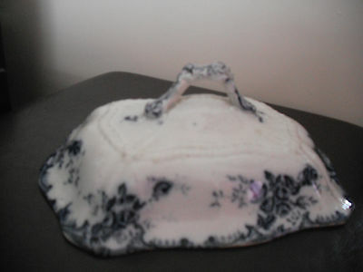 Vintage Blue & White square tureen lid - replacement - oddment - display piece