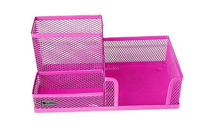EasyPAG Mesh Desk Organizer Office Accessories with Pen Holder ,Pink