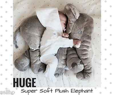 Huge Plush Stuffed Elephant Toy Pillow Soft Cuddly Child Baby Appease Cute Gian