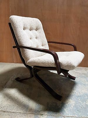 Pair of Mid Century Vintage 1960s Westnofa Bentwood Chairs (delivery available)