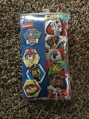 PAW PATROL 7 PACK SIZE 4T Toddler Boys Briefs
