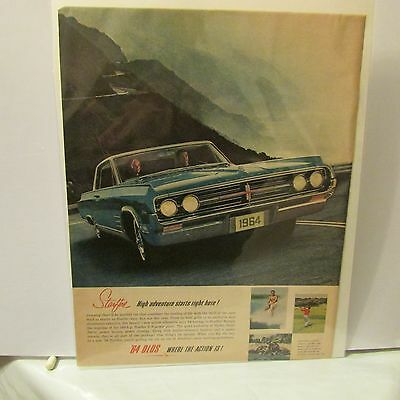 Oldsmobile Car Advertising Print Ad Starfire Vintage Original 1964