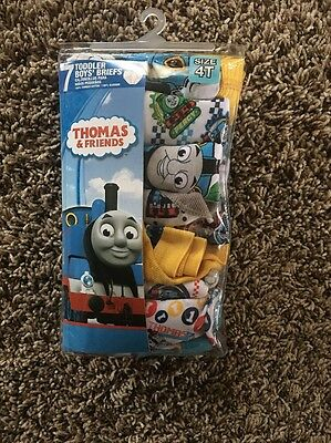 THOMAS AND FRIENDS 7 PACK SIZE 4T Toddler Boys Briefs