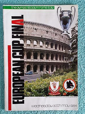 1984 - EUROPEAN CUP FINAL PROGRAMME - LIVERPOOL v AS ROMA - ORIGINAL