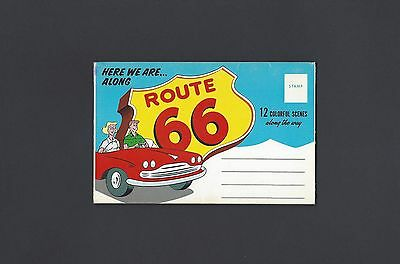 Souvenir Folder of Route 66 with Side Map Along Side of Views