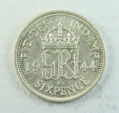 1944 George VI Sixpence; Old album collection!