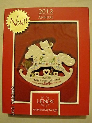 Lenox 2012 Baby's First Christmas Rocking Horse Ornament