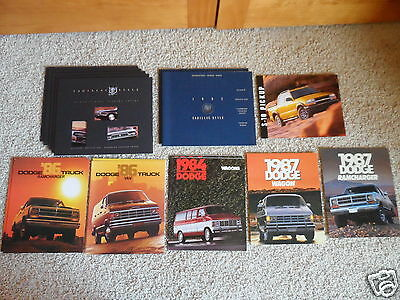 Lot of 55 Original Cadillac Chrysler Dodge & Truck  Brochure/Catalogs '69 - '04