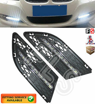 Bmw  3 Series E90 Led Drl Day Time Running Light Lamps 10-12 Drl Lights Kits