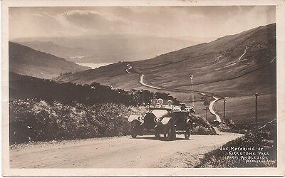 Motoring on Kirkstone Pass from Ambleside - Vintage Postcard