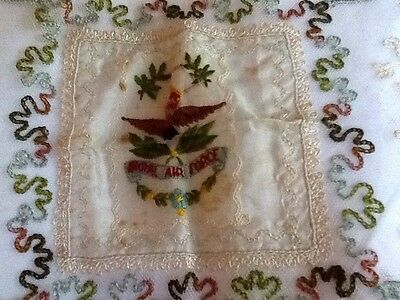 Vintage Lace Handkerchief With R.A.F Emblem