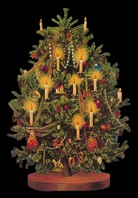 Victorian style Christmas Tree Decoration Tinsel Scrap Card Making Art Project