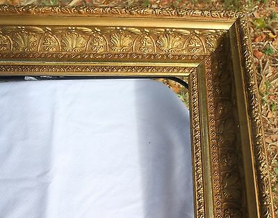 """Antique Victorian Gesso & Wood Painting Frame- As Is-- 14"""" X 17"""" Rabbit"""