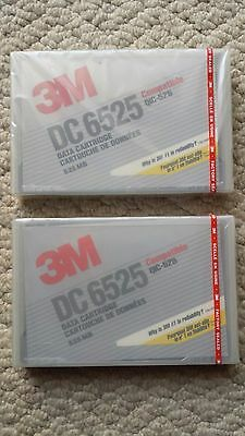 TWO (2) NEW 3M Imation DC 6525 525MB QIC-525 Data Tape Cartridge DC6525 SEALED