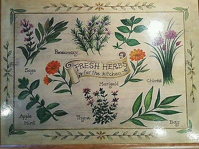 Lovely Herb Picture Lap Tray