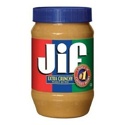 Jif Extra Crunchy Peanut Butter 454g 16oz imported from America