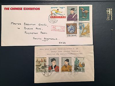 China Briefmarke, C92(1965) in 2 Covers (fast komplete), 1960-1970s