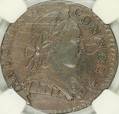 1788 Connecticut Colonial Mailed Bust Right NGC XF40