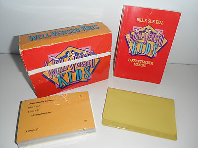 Well-Versed Kids Scripture Memory Just for Kids! by Bill & Sue Tell Complete Set