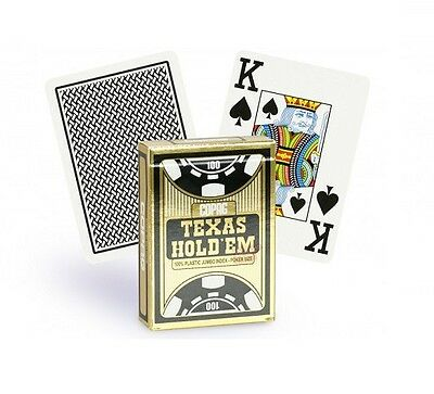Copag Deck Of Playing Cards 100 % Plastic Poker Texas Hold'em Gold Black