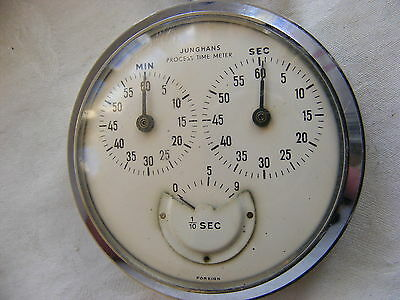Beautiful Junghans Vintage 3 Dial Stop Watch In Guaranteed Perfect Working Order