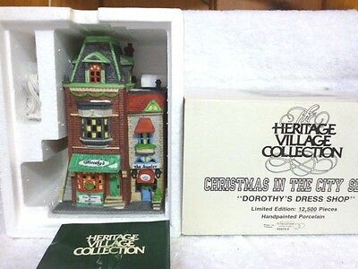 Dept 56 Christmas In the City Dorothy's Dress Shop - 59749