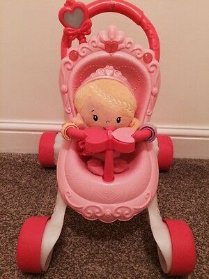 Fisherprice Musical Light Up Pushchair With Doll