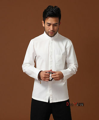 Brand New Arrival Shirt Chinese Men Cotton Embroider Kung Fu Shirt Top M-3XL