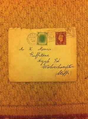 1938 Envelope & Stamp with Leeds Postmark & Glasgow Empire Exhibition stamp mark
