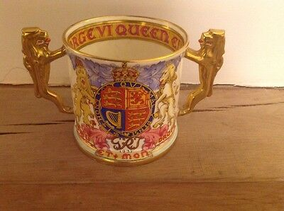 Paragon Limited Edition Loving Cup Coronation King George VI 1937 Lion Handles