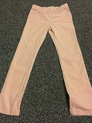 Girls H&M Sparkly Cords Age 7-8 Bnwt