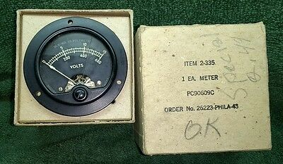 Vintage SIMPSON ~ W.S. No. 19~ Voltmeter   ~ SHIPPING INCLUDED