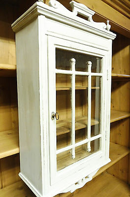 Antique Old Wall Cabinet Cupboard Hanging Cabinet in Pine Wood Shabby Chic