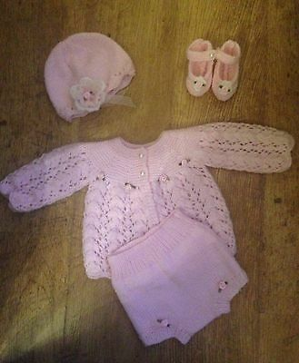 Hand Knitted, Dolls, Reborn, Baby's  Outfit, Clothing