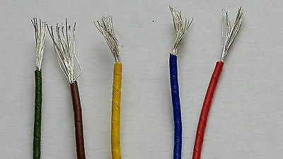 10meters AWG-22 Stranded copper silver plated wire  PTFE 0,35 mm2