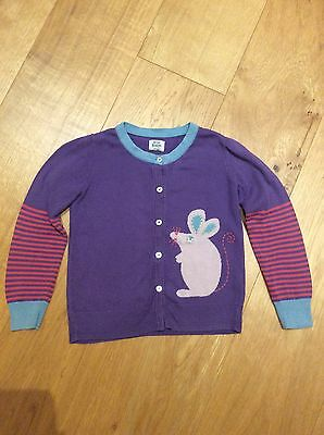 Girls Cardigan Mini Boden 5 - 6 Y, Purple, Mouse