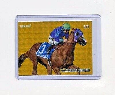 California Chrome Future Stock 2014 Preakness RC - REFRACTOR - Limited 1/1