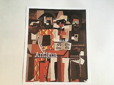Antigua Pablo Picasso Art Paintings Mnh Minisheet 1981 The Musicians